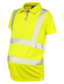 Leo PM03-Y Lovacott Coolviz Ultra Ladies Maternity Polo Shirt Yellow Clothing