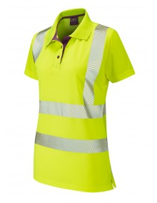 Leo Pippacott Ladies Coolviz-Plus Polo – Yellow Clothing