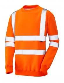 Leo  Winkleigh Crew Neck Sweatshirt – Orange