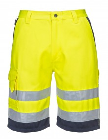 E043 Shorts - Yellow/Navy Clothing