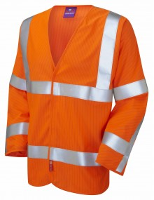 Leo Anti-Static Waistcoat –Long Sleeve - Orange S17 High Visibility