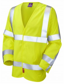 Leo Anti-Static Waistcoat –Long Sleeve - Yellow S17 High Visibility