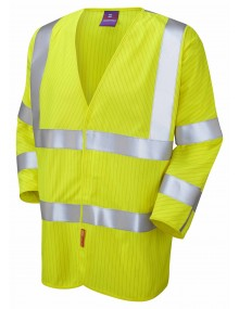 Leo Anti-Static Waistcoat – 3/4 Sleeve - Yellow S18 High Visibility
