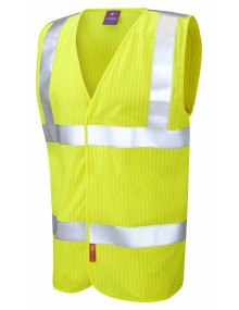 Leo Anti-Static Waistcoat W19 - Yellow High Visibility