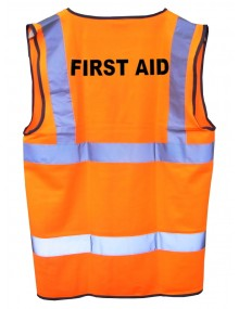 "Hi-Vis Orange Waistcoat with ""First Aid""  Clothing"