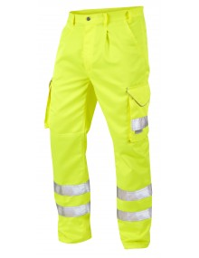 Leo Bideford Yellow Polycotton Cargo Trousers CT01-Y Clothing