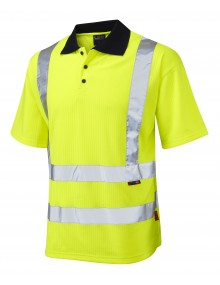 Leo Croyde Short Sleeved Polo Shirt - Yellow Clothing