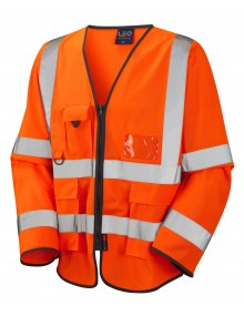 Leo Superior Class 3 Wrafton Sleeved Waistcoat - Orange Clothing
