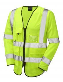 Leo Superior Class 3 Wrafton Sleeved Waistcoat - Yellow Clothing