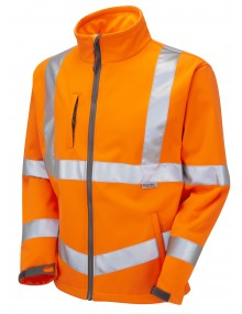 Leo Buckland Class 3 Softshell Jacket (SJ01-O) - Orange Clothing