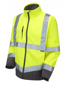 Leo Buckland Class 3 Softshell Jacket (SJ01-Y) - Yellow Clothing