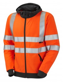 Leo Saunton Class 3 Hooded Sweatshirt - Orange - SS02-O Clothing