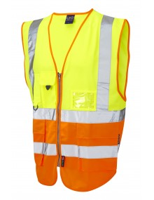 Leo Lynton Superior Class 2 Waistcoat - Yellow/Orange Clothing