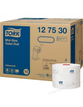Tork Soft Mid-Size Toilet Roll 2ply White Hygiene