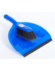Dustpan & Brush Set - Stiff Bristles - Blue Hygiene