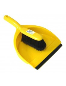 Dustpan & Brush Set - Stiff Bristles - Yellow Hygiene