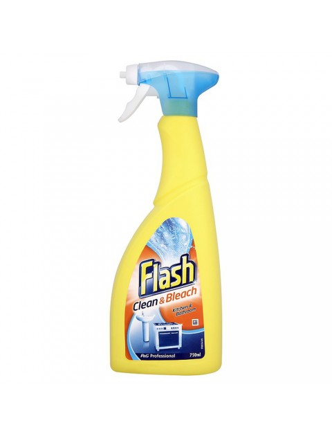 Flash Clean & Bleach Spray - Box of 10 x 750ml Hygiene
