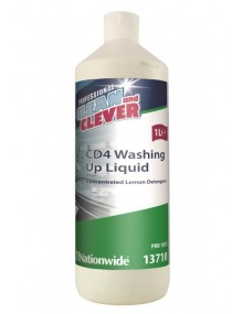 Clean & Clever Washing Up Liquid - Lemon - Case of 6 Hygiene