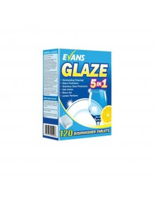 Evans Glaze 5 In 1 Dishwasher Tablets - Box of 120