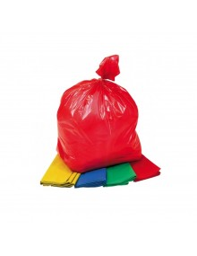 "Coloured Waste Sacks 18x29x38"" MW 10Kg. Pack of 200"