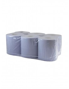 Blue 2 Ply Centrefeed Roll Pack of 6 Industrial Wiping