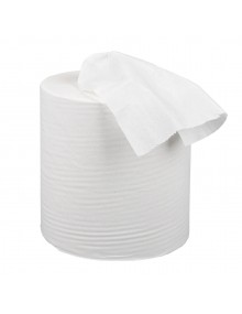 Pack of 6 150m white Centrefeed rolls Hygiene