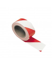 Adhesive Hazard Warning Tape -  Red & White Site Products