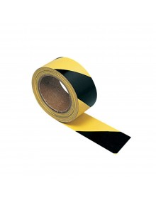 Adhesive Hazard Warning Tape - Yellow & Black  Site Products