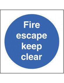 Fire escape keep clear rigid plastic – 3 Sizes Site Products