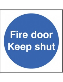 Fire Door Keep Shut - Rigid Plastic 2 sizes Site Products