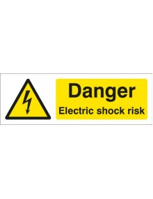 Danger Electric Shock Risk rigid plastic – 2 sizes