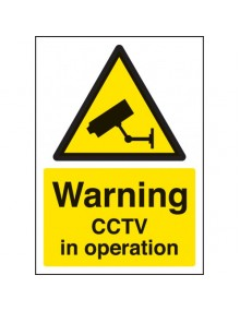 A4 Warning CCTV in operation sign rigid plastic  Site Products