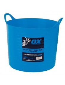 OX Blue Heavy Duty Flexi-Tub 20 Litre Site Products