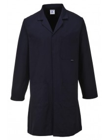 Laboratory Coat 305g 100% Cotton - Navy - (C851) Clothing