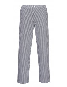 Portwest C079 - Bromley Chefs Trousers Tall Black Check    Clothing