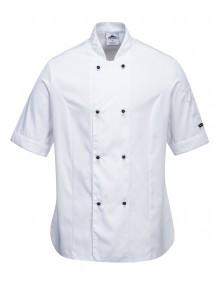 Portwest C737 Ladies Short Sleeve Chefs Jacket    Clothing
