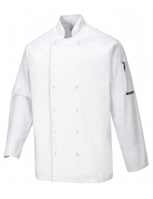 Portwest Aberdeen Chefs Long Sleeved Jacket Clothing