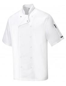 Portwest Aberdeen Chefs Short Sleeved Jacket Clothing
