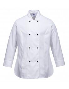 Portwest C837  Ladies Long Sleeve Chefs Jacket    Clothing