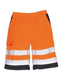 Portwest E043 Shorts - Orange/Navy Clothing