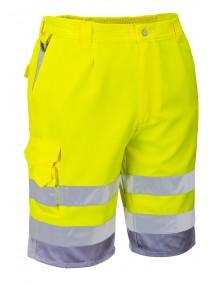 Portwest E043 Shorts - Yellow/Navy Clothing