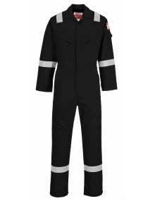 FR21 - Flame Resistant Super Light Weight Anti-Static Coverall - Black Clothing