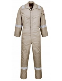 FR21 - Flame Resistant Super Light Weight Anti-Static Coverall - Khaki Clothing