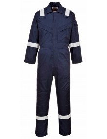 FR21 - Flame Resistant Super Light Weight Anti-Static Coverall - Navy Clothing