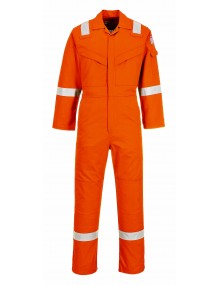 FR21 - Flame Resistant Super Light Weight Anti-Static Coverall - Orange Clothing