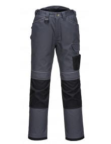 Portwest T601 - PW3 Work Trousers Grey/Black Clothing