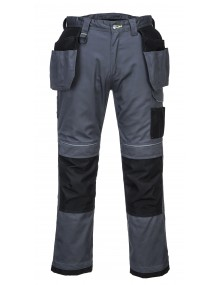 Portwest T602 - PW3 Holster Work Trouser - Grey/Black Clothing