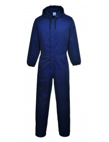 Portwest Navy Hooded Spray Coverall (S086) Clothing
