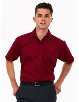 Uneek UC710 Men's Poplin Half Sleeve Shirt Clothing
