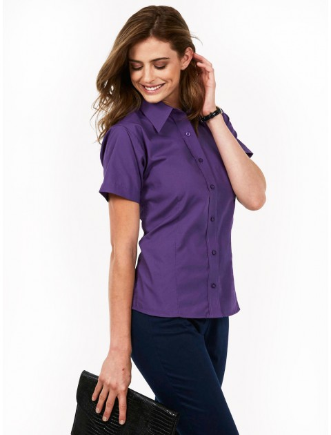 Uneek UC712 Ladies Poplin Half Sleeve Shirt  Clothing